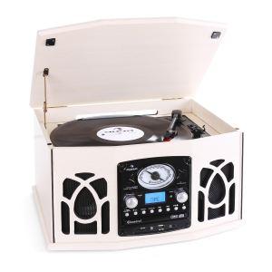 Auna NR-620 - Chaîne hi-fi stéréo tourne-disque rétro