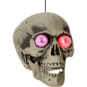 Tête de mort avec lumière (20 cm)