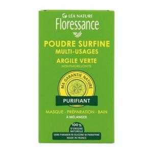 Floressance Argile Verte - Poudre surfine multi-usages purifiant
