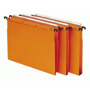 L'Oblique AZ Paquet de 10 dossiers suspendus pour tiroir AZO (fond : V)