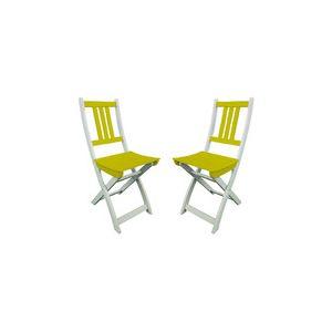 City green Burano - Chaise de jardin pliante en acacia