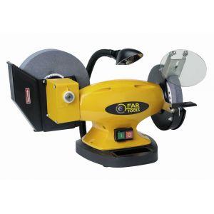 Far Tools CBG150 - Touret à meuler + meule à eau + lampe 400W