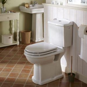 Planetebain Pack WC rétro à poser Ramses en porcelaine sortie horizontale