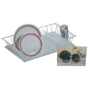 Metaltex Egouttoir à vaisselle en fils plastifiés avec plateau