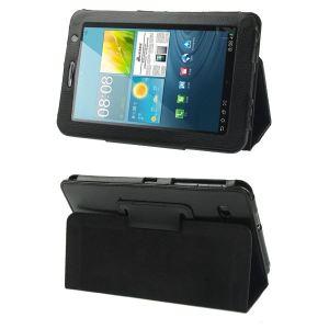 Housse et support en cuir pour tablette 7'' Galaxy Tab 2 P3100