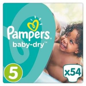 Pampers Baby Dry taille 5 Junior 11-23 kg - 54 couches