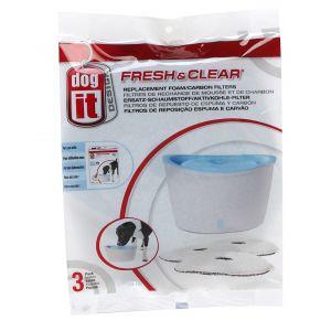 Dog It Recharge Fontaine a eau Fresh & Clear 6l (par 3)