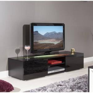 Meuble tv noir mat comparer 206 offres for Meuble tv jeffrey