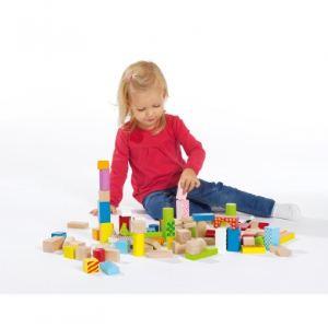 Eichhorn 50 blocs de bois de couleur