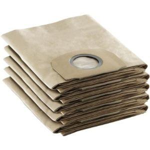 Kärcher 6.904-409.0 - 5 sachets filtre papier WD pour aspirateurs