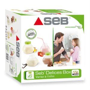 Seb XF102000 Delices Box - Coffret de six bouteilles à yaourt à boire