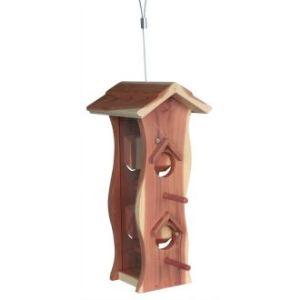 Trixie Distributeur de nourriture en bois de cèdre pour oiseaux