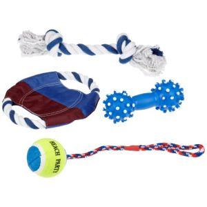 Trixie Set de 4 jouets Sun'n'Fun pour chien