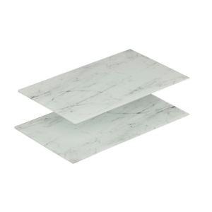 Zeller 26247 - 2 planches à découper marbrées Ceran (30 x 52 cm)