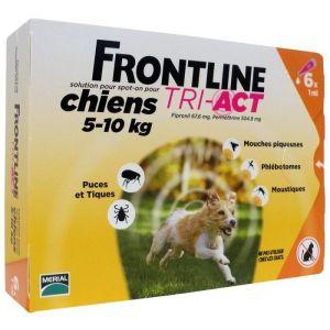 Frontline Tri-Act Chiens 5-10 Kg Boite de 6 Pipettes