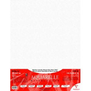 Clairefontaine Etui de 5 feuilles de papier aquarelle 300 g (50 x 60 cm)
