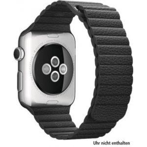 Apple Watch 42mm - Montre connectée boitier acier bracelet cuir
