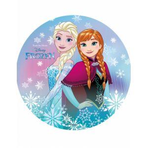Disque azyme Elsa et Anna La Reine des Neiges 20 cm