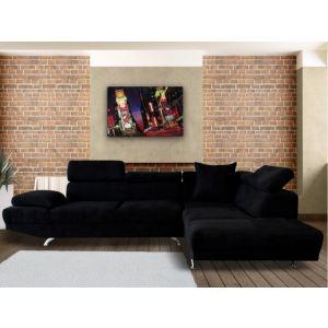 Canapé d'angle droit Romain XL en tissu