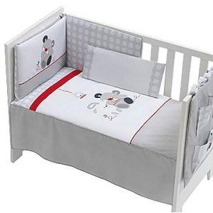 Interbaby 91226 - Set de 3 pièces : Couette, tour de lit et coussin pour lit (70 x 140 cm)