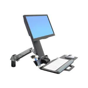Ergotron 45-266-026 - Kit de montage StyleView Sit-Stand Combo Arm(bras articulé, fixation murale) pour écran LCD,clavier,souris,lecteur de codes à barres