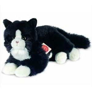 Hermann Teddy Peluche Chat noir 25 cm