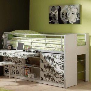Vipack Furniture Lit combiné Bonny 95 pour enfant 90 x 200 cm