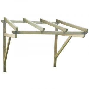 VidaXL Auvent de porte en bois 150 x 150 x 160 cm