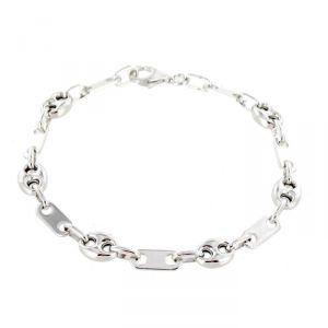 Rêve de diamants CDMC666 - Bracelet pour homme en argent 925/00 rhodié en maille grain de café