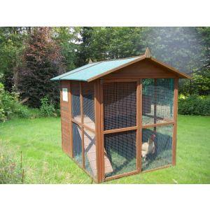 Foresta PO 1619 - Poulailler grande taille 5 à 8 poules 3,45 m²