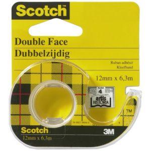 Scotch Ruban double-face avec dévidoir 12 mm x 6.3 m
