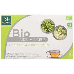Laboratoires Mességué Infusettes aide minceur bio reine des prés thé vert - Boîte de 20 sachets