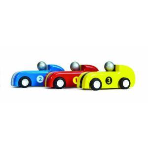 Le Toy Van 3 pilotes de Formule 1 en bois