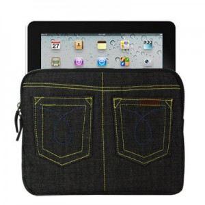 LambeMu E18N4-IPAD2-0391 - Pochette en Jean pour iPad
