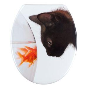 Wenko 20540100 - Abattant WC Fish et Cat en duroplast