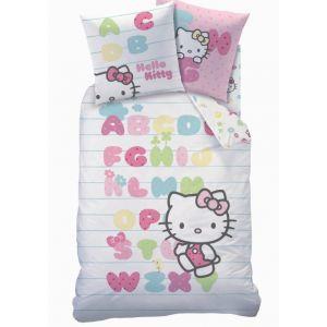 Cti Hello Kitty Abécédaire - Parure de lit (140 x 200 cm)