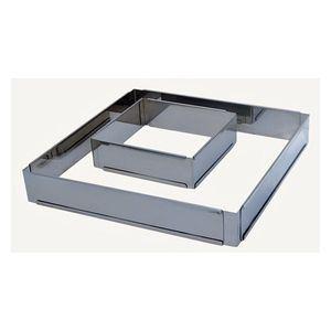 De Buyer 3014.16 - Cercle carré professionnel réglable (16 à 30 cm)