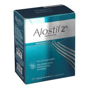 Johnson & Johnson Alostil Minoxidil 2 % - 180 ml Solution pour application locale