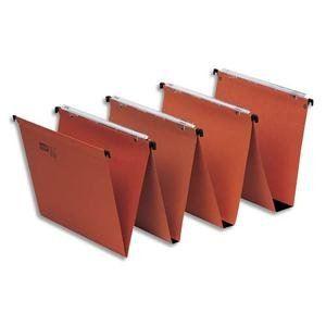 Fast Boîte de 25 dossiers suspendus pour tiroir kraft (fond : 30 mm)