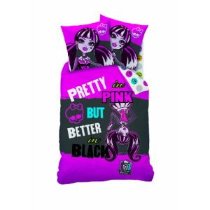 Cti Monster High Better Black - Housse de couette et taie 100% coton (140 x 200 cm)