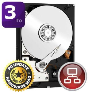 "Western Digital WD30EFRX - Disque dur RED 3 To 3.5"" SATA lll Intellipower"