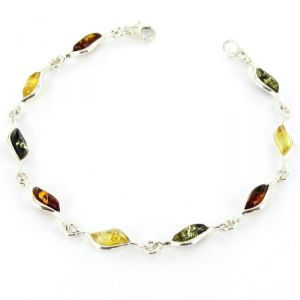 Rêve de diamants BRBA01016 - Bracelet en ambre véritable et argent 925/1000