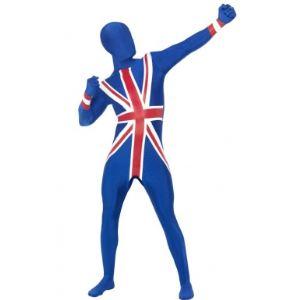 Déguisement seconde peau adulte Royaume uni (taille L)