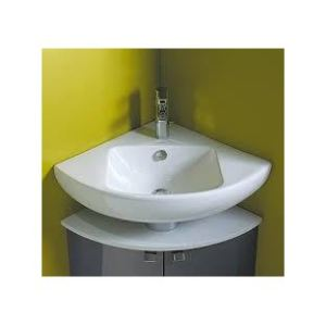 Jacob Delafon E4733-00 - Lave-mains d'angle ODEON UP 34x34 cm monotrou blanc
