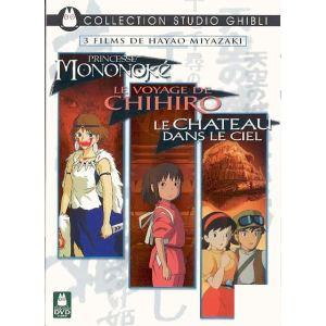 Coffret Miyazaki - Princesse Mononoké + Le Voyage de Chihiro + Le Château dans le Ciel
