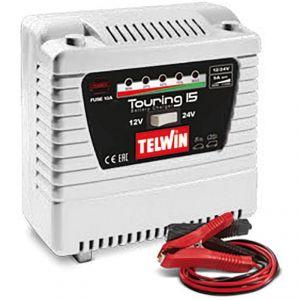 Telwin Chargeur de batterie portable touring 15 12 24v