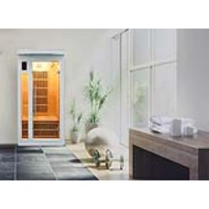 France Sauna Soleil Blanc 1 - Sauna cabine à infrarouge pour 1 personne