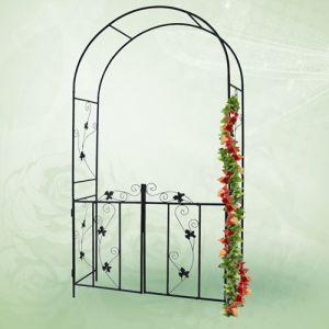 achat jago arche de jardin rosiers avec portillon. Black Bedroom Furniture Sets. Home Design Ideas