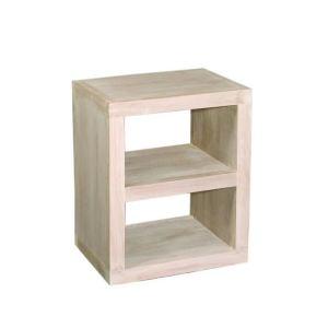 Etagère cube Anémone avec 2 niches en bois