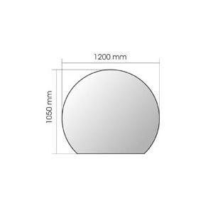 Invicta Plaque en verre en forme de cercle pour poêle à bois